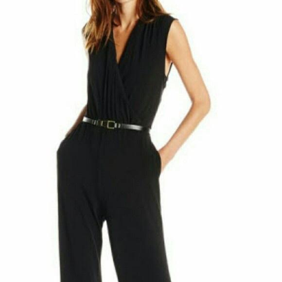 bd97297676c Calvin Klein Pants - Calvin Klein black v-neck jumpsuit