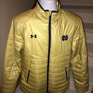 Under Armour Other - Under Armour *Notre Dame* puffer cold gear jacket