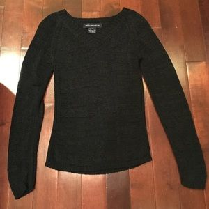 French Connection black long sleeve sweater top