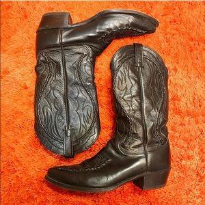 Dan Post Other - Dan Post El Paso Black cowboy boots size 9D