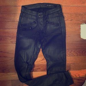Black Orchid Pants - Black orchid shiny skinny pants