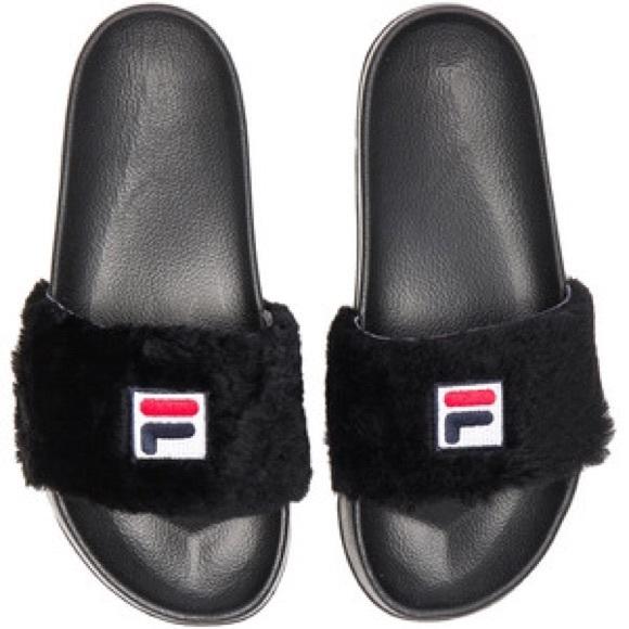 4dcd1b8568a9 Fila fuzzy slides -black