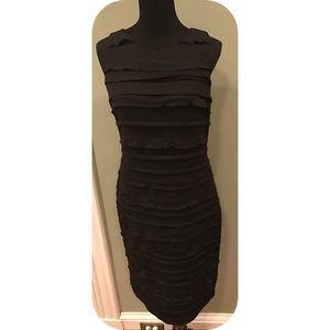 Calvin Klein  Ruffled bodycon midi length dress