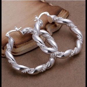 Jewelry - Sterling plated Twisted Earrings