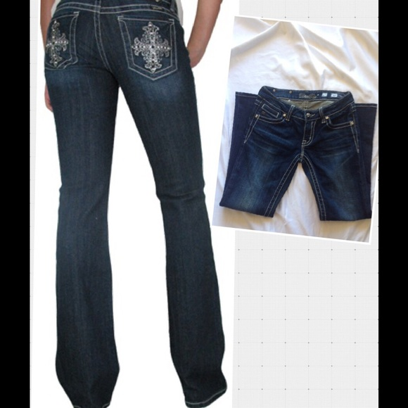 f72af906d3eead Miss Me Jeans | Jp50742 Size 27 Dark Wash Boot Cut | Poshmark