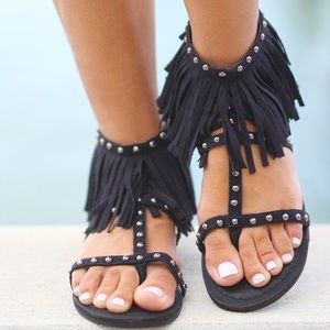 Not Rated Shoes - 🔥ONE DAY SALE 🔥 Fringe Sandals