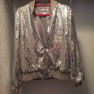 WD.NY Jackets & Blazers - 🎉HP🎉WD.NY Silver Sequin Jacket