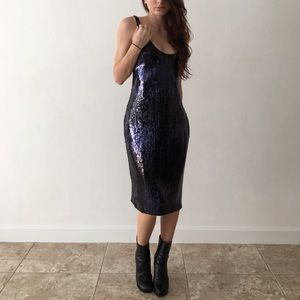 Aidan Mattox Sequin Sleeveless Dress