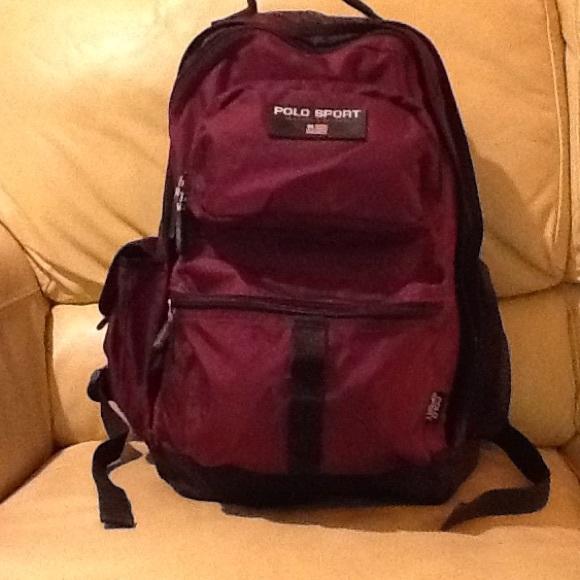 f0ebcfa6fe Ralph Lauren Polo Sport burgundy backpack. M 58797d5f6d64bc542d01299d