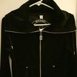 Michael Kors zipped velour jacket