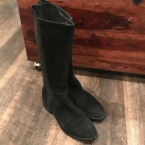 Donald J Pliner Black Knee High Boots Suede 50/50