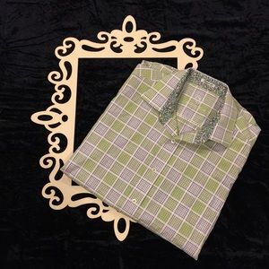 Bugatchi Other - BUGATCHI Short Sleeve Plaid Button Down Polo