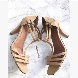 Corso Como Shoes - Corso Como Leather Tan Strappy Heels