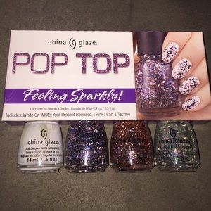 China Glaze nail polish set.
