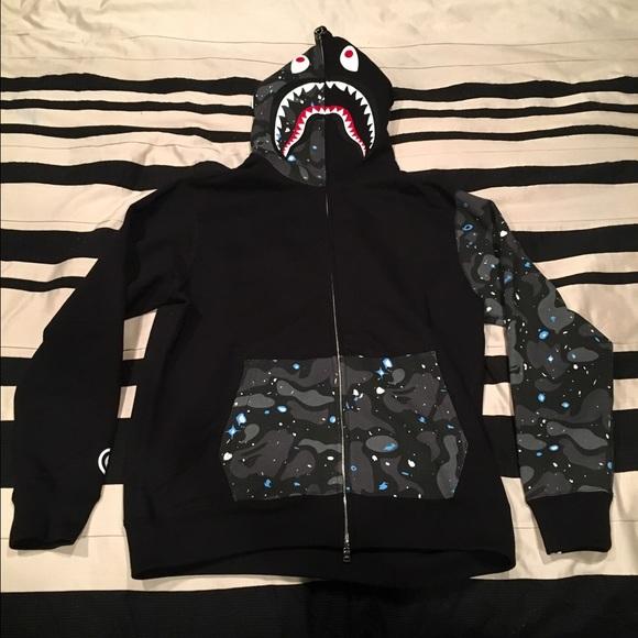 cf6f57545b71 Bape Space Camo Hoodie Size XL