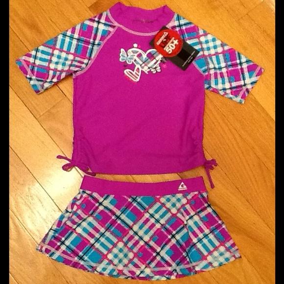 b87a02ded8 Gerry Brand Girls Size 6 2 Piece Swim Set