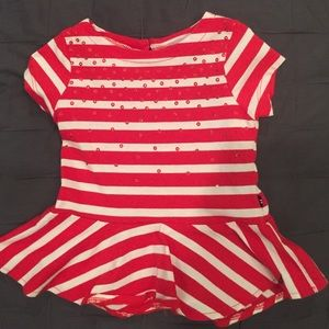 Nautical Toddler Peplum Top