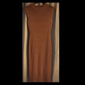 MAKE AN OFFER‼️7th Avenue Brown Fitted Dress Small