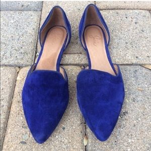 Joie Florence D'Orsay cobalt suede flats