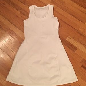 Athleta well loved❤️white sleeveless tennis dress