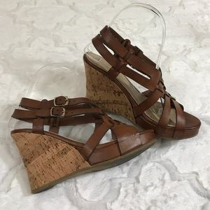 Chinese Laundry Shoes - Chinese laundry brown cork wedge sandal peep toe