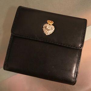Juicy Couture Square Black Wallet
