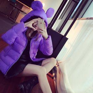 Light purple puffer coat