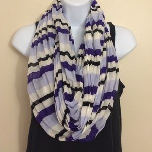LOFT striped infinity scarf