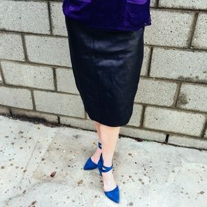 Additional Photos Vintage Leather Spy Skirt