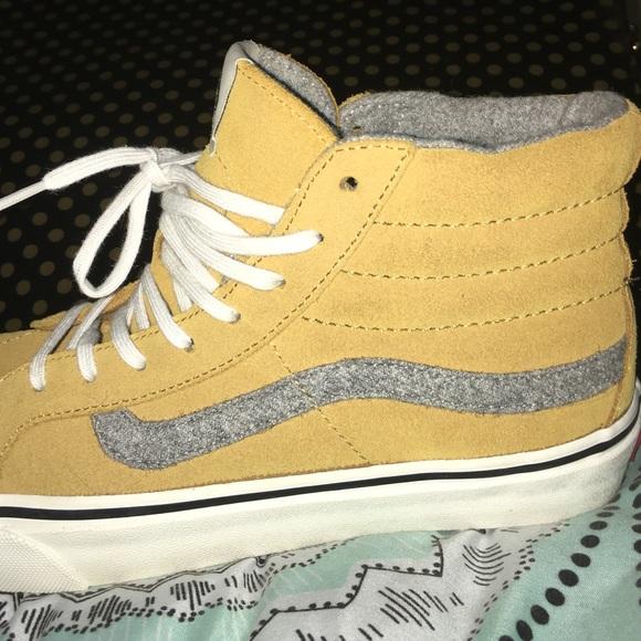 mustard vans shoes