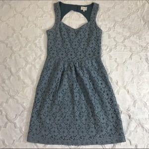 Deletta Anthro Silverfield Sweetheart Dress