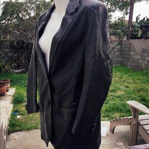 Vintage Late 80s Leather Spy Jacket