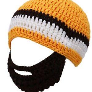 Simplicity Other - Little boys hat w/ beard mustache face warmer