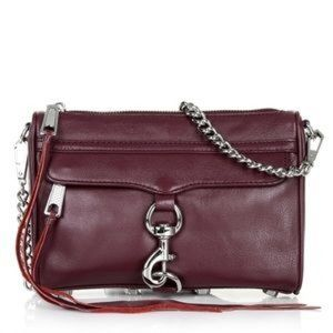 Rebecca Minkoff Handbags - Rebecca minkoff Mini Mac in Port with silver chain