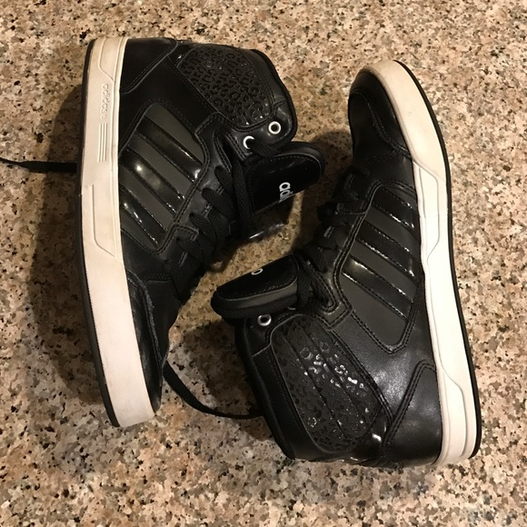 amazing selection pretty nice huge inventory official store adidas neo black high tops b5a46 0d5a0