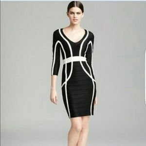 French Connection black and white dress
