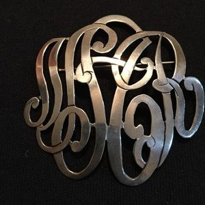 Jewelry - Sterling silver initial pin SAR