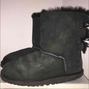UGG Shoes - Black Bailey bow uggs