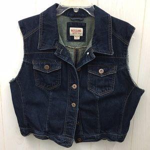 Dark Denim Crop Jean Vest by MOSSIMO Sz XXL