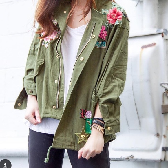 KNVAZ Jackets & Coats - KNVAZ Floral Embroidered Jacket