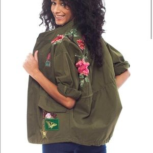 KNVAZ Jackets & Coats - KNVAZ Floral Embroidered Jacket