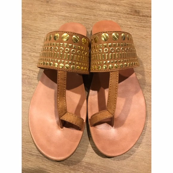 Merona Shoes - NWOT Gold Studded Sandals