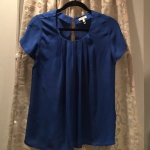 Joie women's blue short-sleeve silk shirt. Sz Sm