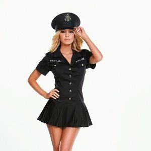 Hustler 2PC Naughty Police Officer Mini Dress Set