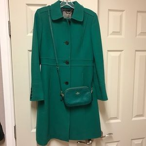 J Crew Double Cloth Lady Coat & Coach Crossbody