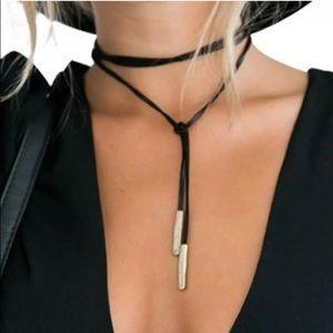 🆕 Vegan Suede Wrap Necklace
