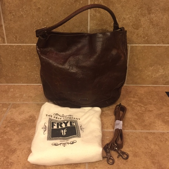 41% off Frye Handbags - Frye Melissa Hobo Leather Dark Brown from ...