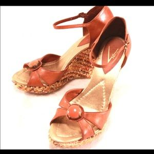 Vince Camuto Shoes - VINCE CAMUTO Wedges in Funky Orange Tones