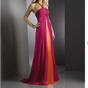 Shimmer by Bari Jay formal gown with train. 8 NWT