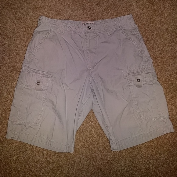 8d5c4fda5c Express Shorts | Cargo Light Gray Size 36 Mens | Poshmark